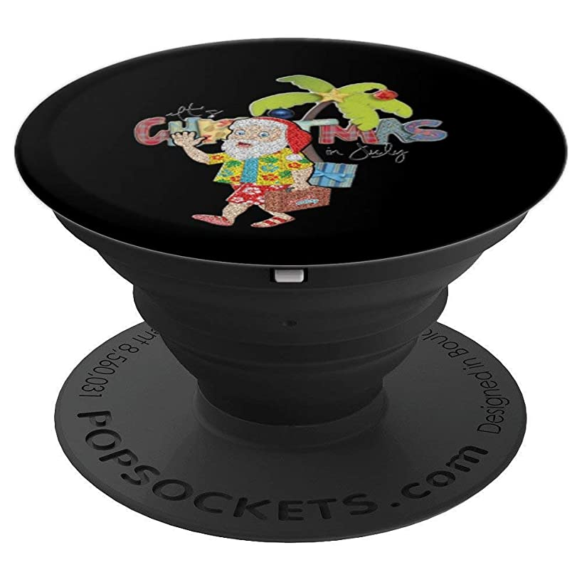 Christmas In July Shirt Santa Hawaiian Surfing Beach Summer PopSockets Grip and Stand for Phones and Tablets