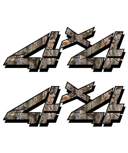 Decals 4x4 Sticker Set for Chevy, GMC, Sierra, Silverado Truck Timber Camouflage Hunting camo