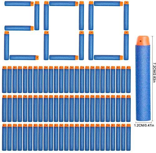 NextX Darts Pfeile für Nerf Zubehör 7.2cm Pfeile Refill Bullets Darts für N-Strike Elite Blasters Spielzeugpistole Box-Verpackung