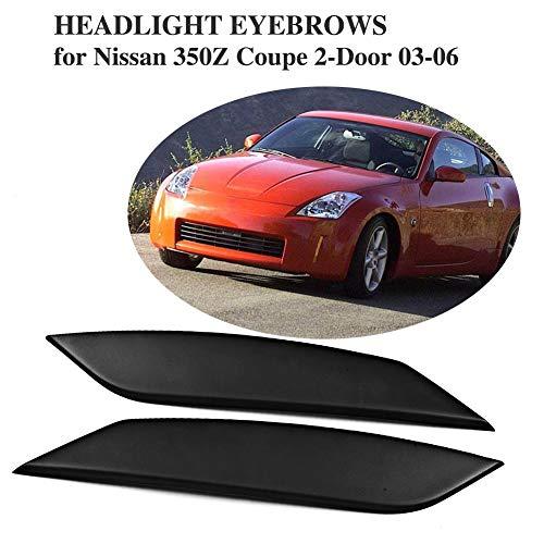 TGFOF FRP Scheinwerfer-Augenbrauen-Augenlider-Abdeckungen Verkleidung für Nissan 350Z Coupe Cabrio 2003–2006 Scheinwerfer-Augen-Deckel-Dekoration Styling Aufkleber Item Name (aka Title)