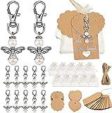 Etiquetas de regalo de color marrón, SPECOOL Kraft Paper Luggage Labels Set con 40 Colgante de...