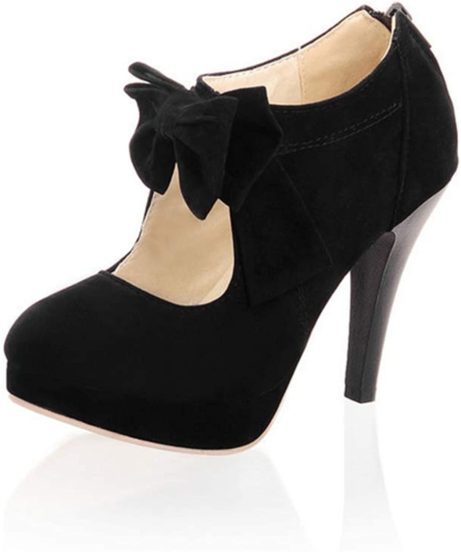 Women's high Heels Fashion Women's Small Bow Flat shoes Ladies Sexy high Heels 37-46