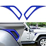 Bonbo Exterior Accessories Car Wheel Eyebrow Side Air Conditioning Vent Outlet Decoration Cover Trim ABS for 2018-2021 Jeep Wrangler JL JLU & Gladiator JT 2PCS (Blue)