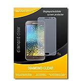 SWIDO 2 x Bildschirmschutzfolie Samsung Galaxy E5 Schutzfolie Folie DiamondClear unsichtbar