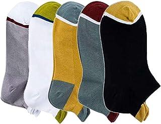 ZOYLINK, 5 Pares De Calcetines Deportivos Con Lengüeta Calcetines Cortos De Algodón Calcetines Para Correr Calcetines Deportivos Con Lengüeta En El Talón Calcetines Con Lengüeta Para Correr