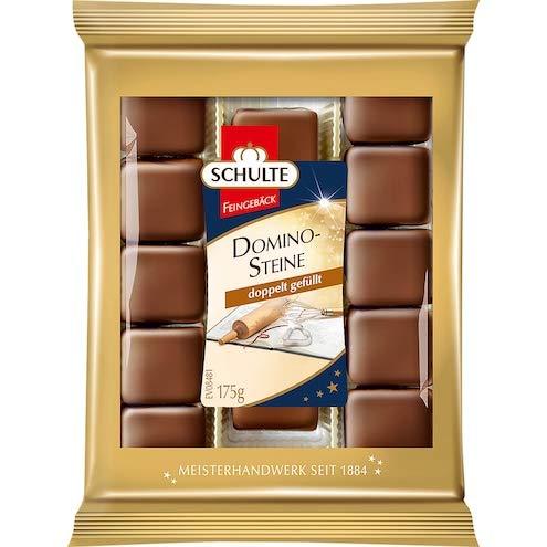 Schulte Milk Chocolate DOMINO-Steine Marzipan dominos 175g