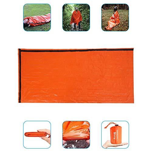 エマージェンシーウヒートシート非常用寝袋90%の体熱を保つ(防水・防風・防寒・保温・遮熱シート)1人用