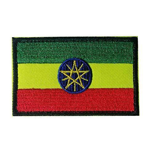 ShowPlus Äthiopien-Flagge, Aufnäher, Militär, bestickt, taktischer Patch