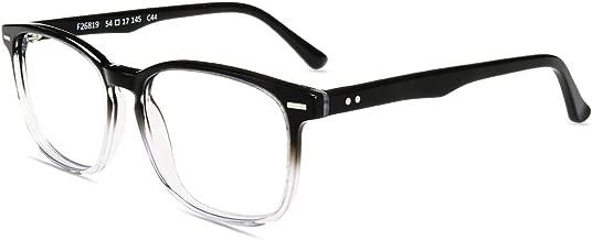 Firmoo Blue Light Blocking Glasses for Women Men Eye Protective Computer Glasses Anti Eyestrain Headache Blocking UV400 Glare Classic Square Non Prescription Eyewear Frames Glasses