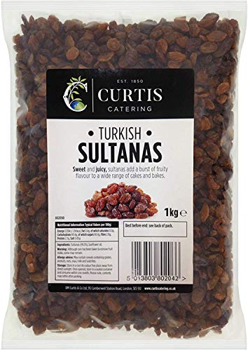 Curtis Suculent Sweet and Juicy Sultanas - Bolsa lista para comer, paquete económico, 1 kg