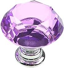 Ashley GAO 30MM Clear Crystal Glass Diamond Plated Deurknoppen Keuken Kast Lade knoppen + Sommige Schroeven Deur Garderobe...
