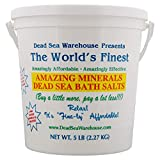Dead Sea Warehouse - Amazing Minerals Dead Sea Bath Salts, Temporary Relief From Dry Itchy Skin,...