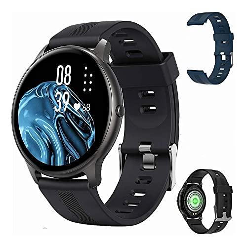 OMANIFER LW11 SmartWatch Reloj Deportivo Redondo de 1,3 Pulgadas para Hombres y Mujeres IP68 Monitor de Actividad a Prueba de Agua...