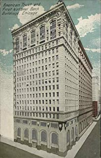 American Trust and First National Bank Buildings Chicago, Illinois Original Vintage Postcard