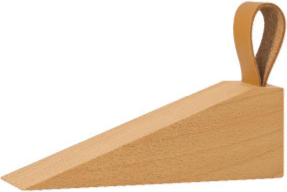 NYDG Tope de puerta de madera maciza antideslizante para elevar las cuñas de puerta duraderas para niños y personas mayores
