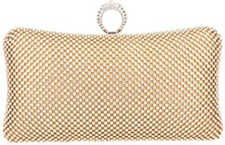 Fawziya Bling Ring Clutch Purse Women Rhinestone Clutch Evening Bag