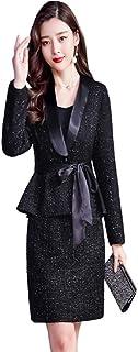 MIKOO スーツ レディース 2点セット ジャケット スカート セレモニースーツ 大きいサイズ フォーマルスーツ スカート スーツ 七五三 結婚式 卒業式 入学式 卒園式 入園式 OL スーツ ママ 婦人服
