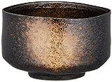 キッチン用品・食器/コーヒー・ティー用品/日本茶・茶道道具/抹茶碗 黒 13×12.5×8.7cm 抹茶茶碗 黒砂吹き
