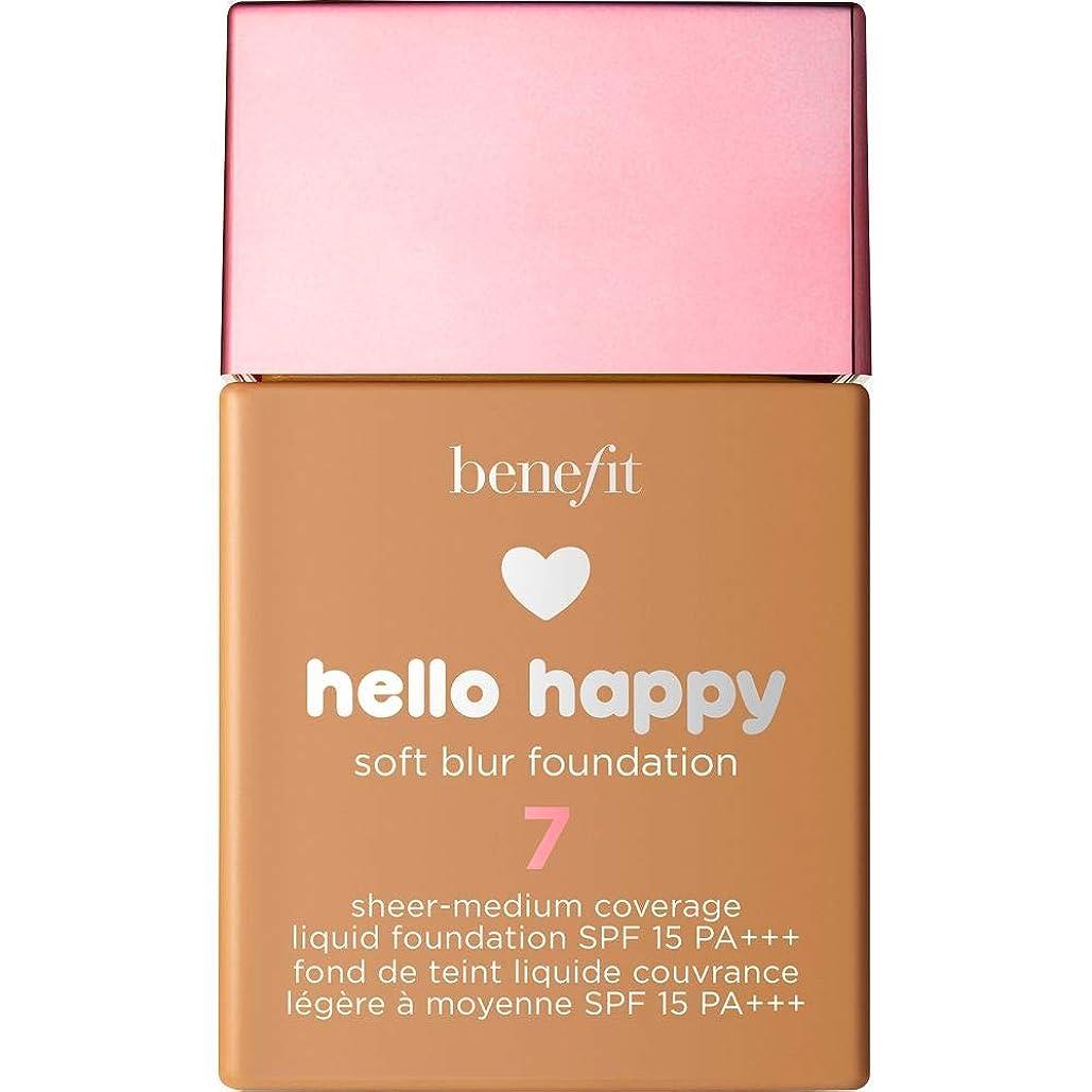 誓約呼吸膨らみ[Benefit ] 利益こんにちは幸せなソフトブラー基礎Spf15 30ミリリットル7 - 中規模たん暖かいです - Benefit Hello Happy Soft Blur Foundation SPF15 30ml 7 - Medium-Tan Warm [並行輸入品]