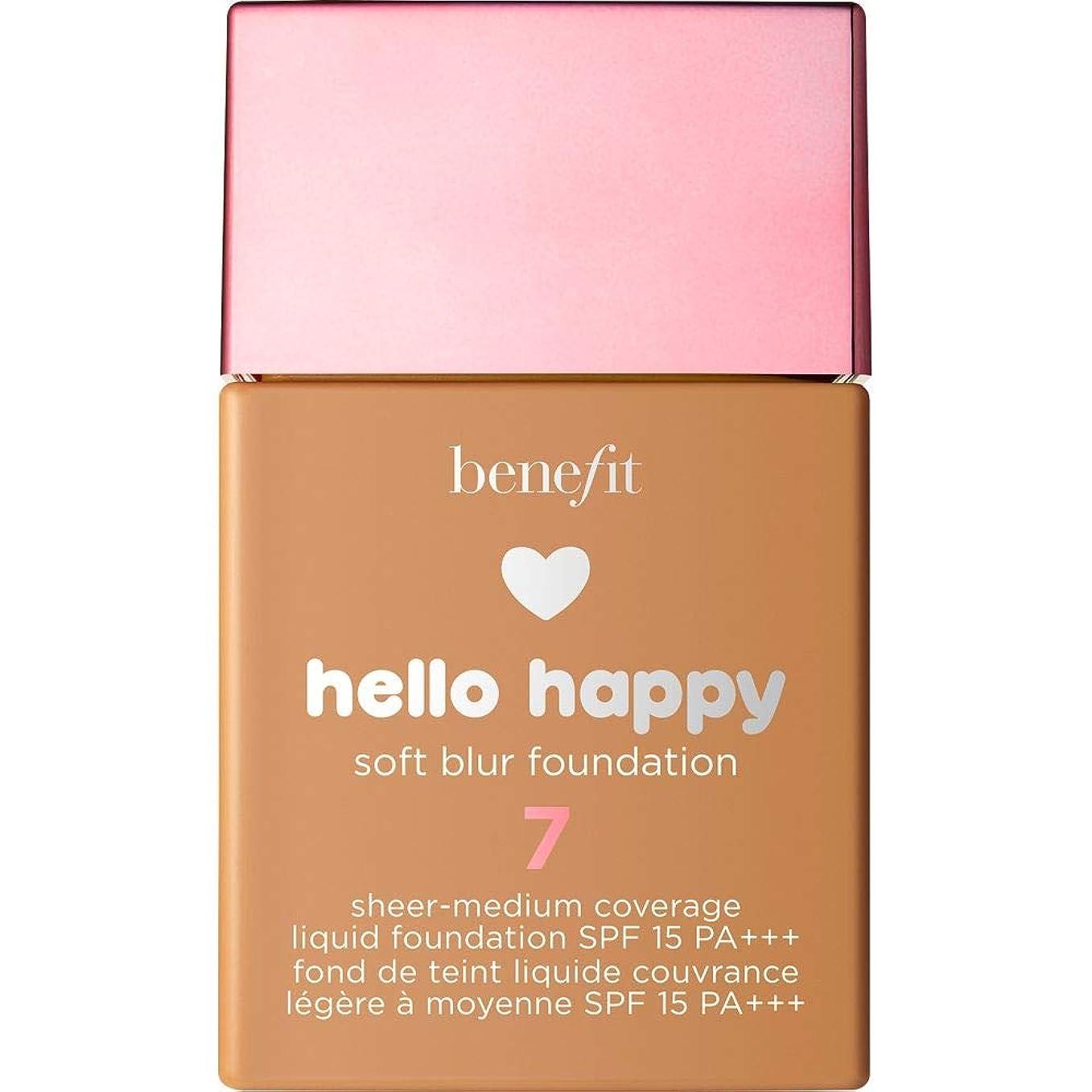 自明腐った頻繁に[Benefit ] 利益こんにちは幸せなソフトブラー基礎Spf15 30ミリリットル7 - 中規模たん暖かいです - Benefit Hello Happy Soft Blur Foundation SPF15 30ml 7 - Medium-Tan Warm [並行輸入品]