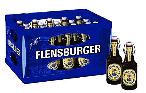 20 x Flensburger Edles Helles 0,33l, Bügelflasche 5,4% vol Originalkiste MEHRWEG
