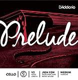 Cuerda individual Do para violonchelo Prelude de D'Addario, escala 1/2, tensión media.