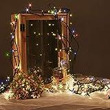 Idena 8325068 - LED Lichterkette mit 200 LED bunt, mit 8 Stunden Timer Funktion, Innen und Außenbereich, für Partys, Weihnachten, Deko, Hochzeit, als Stimmungslicht, ca. 27,9 m - 3
