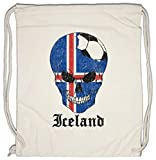 Urban Backwoods Iceland Football Skull I Turnbeutel Sporttasche