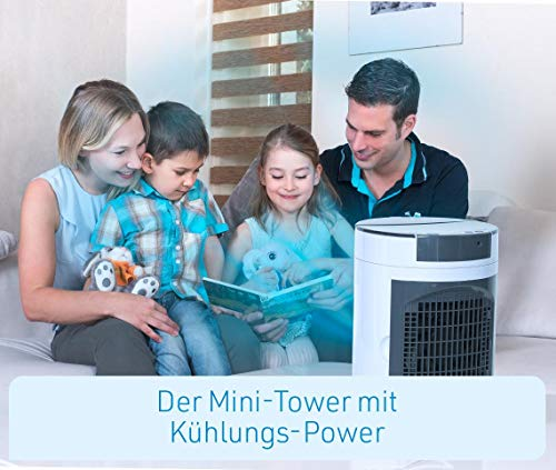 Livington SmartChill Summer-Edition – Klimagerät mit Wasserkühlung – Tragbares Klimagerät mit 3 Stufen – kraftvoller Mini Luftkühler mit Tankvolumen für 12h Kühlung - 7