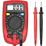 Etekcity Digital Multimeter, Volt Ohm Amp Meter, Voltage Tester with Continuity, Diode and Resistance Test, Dual Fused for Anti-Burn, Father Day Gift, Red, MSR-R500