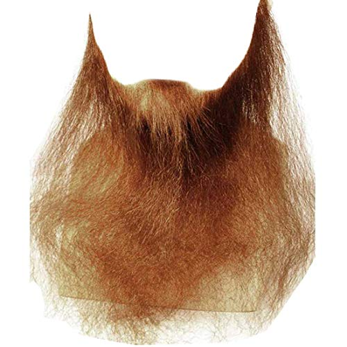 """16"""" Long Full Face Beard Color BLONDE - Lacey Wigs Human Hair Duck Dynasty Hand Made Fake Facial Biker Amish Bundle Costume Wig Care Guide"""