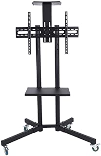 Slim Compact TV Wall Bracket Tv Stand Mobile TV Cart Adjustable Stand Mount For 32-65 Inch LCD/LED Flat Panel Screen With ...