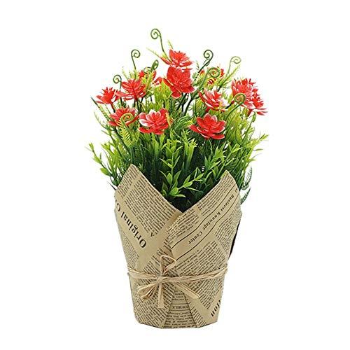 Outflower Simulation créative Plante en Plastique Pot de Fleur Arbre Balle en Pot Famille Table de Jardin Bureau fête de Famille décoration de Mariage