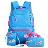 Mochila preescolar,Las mochilas escolares ligeros para niñas (Set de 3) linda bolso impermeable del...
