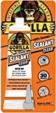 Gorilla 100 Percent Silicone Sealant Caulk, 2.8 ounce Squeeze Tube, Clear, (Pack of 1)