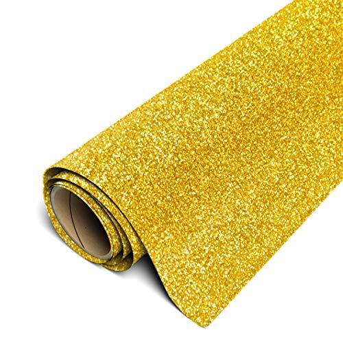 Siser Glitter HTV 12x3ft Roll (Gold) Iron on Heat Transfer Vinyl