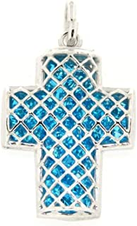 Ciondolo Croce con Cristalli Luminosi in Argento 925 Collezione Dream