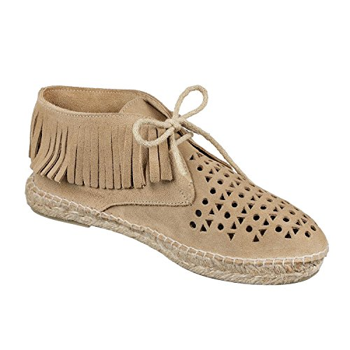 JOYCE Ibiza dames espadrilles laarzen suède schoenen