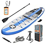 Zray Inflatable Stand Up Paddle Board SUP Comes with High Pressure Pump with Gauge/Adjustable Aluminum Paddle/Big Durable Backpack, 6' Thick (A2)
