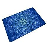 CATNEZA Lotus Willkommensmatte Fußmatte rutschfeste Ausführung Innen Patio Verwenden - Lotus für Home Decor (60x90 cm, white4)