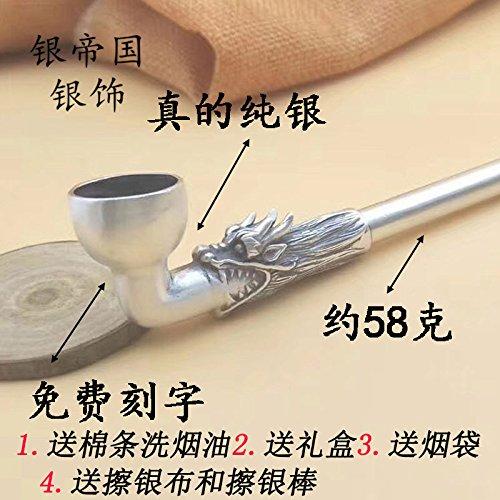 Bijjaladeva Badkamer wastafel Vaartuig Basin Mixer Tap S990 sterling zilveren pijp fitting kraan zilveren droog-pijp-roken pistool roken in mannen traditionele geschenken voor oudere senioren