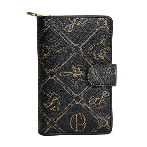 Giulia Pieralli Nuova Collection – XL portafoglio da donna – presentato da ZMOKA in diversi colori, Nero (Nero) - 0