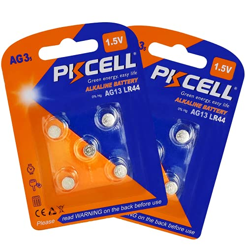 PKCELL Piles Bouton LR41 AG3 Alcaline pour Montre, Lot de 10 pcs