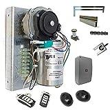 Automatismo para puerta basculante contrapesada VDS 24v CARRIL DE 3 METROS. Para puertas de 2 hojas. Sistema de elevación por cadena de alto rendimiento. (KIT COMPLETO).