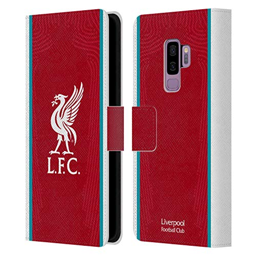 Official Liverpool Football Club Home 2020/21 PU Leather Book Wallet Case Cover Compatible For Samsung Galaxy S9+ / S9 Plus