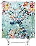 DAFENP Duschvorhang Waschbar Wasserdichter Anti-Schimmel,Duschvorhang inkl.8 Kunststoffhakens,Duschvorhang Polyester (180cm x 180cm,Eine Vielzahl von Mustern) (YL01-style3-3)