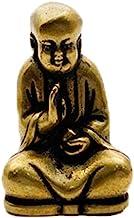 ZGPTX Retro Chinese Bronze Buddhism Happy Buddha Car Key Chains Pendant Copper Maitreya Buddha Figurines Brass Laughing Bu...