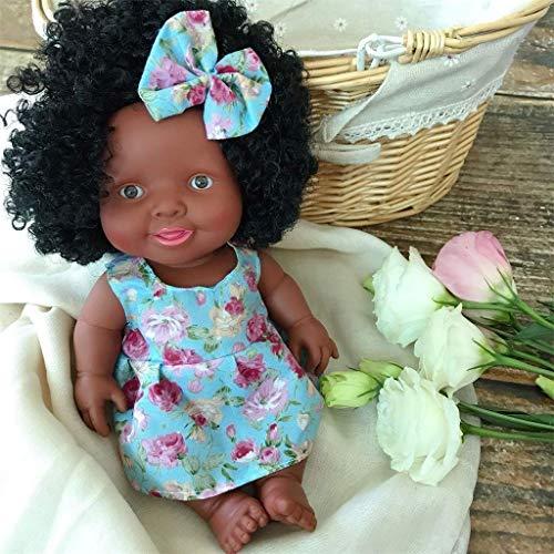Black Girl Dolls Muñecas Negras para niños, muñeca Africana con sueño simulado, muñecas realistas para bebés, cumpleaños para niños, niñas y niños pequeños