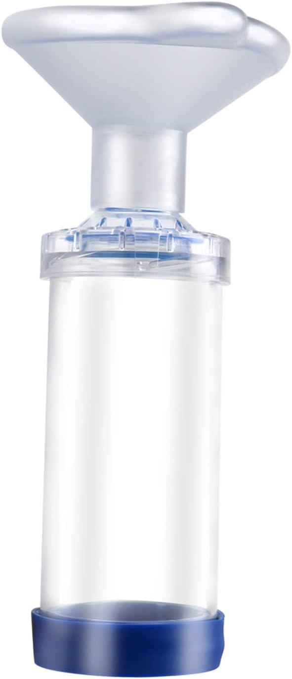 Free-Space Cámara de Aerosol para inhalador con indicador de respiración - Máscara de Silicona de Forma Redonda, Espaciador de asma para Gatos - Incluye 2 máscaras para un Mejor Ajuste