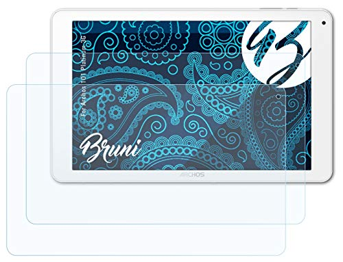Bruni Schutzfolie kompatibel mit Archos 101 Platinum 3G Folie, glasklare Bildschirmschutzfolie (2X)